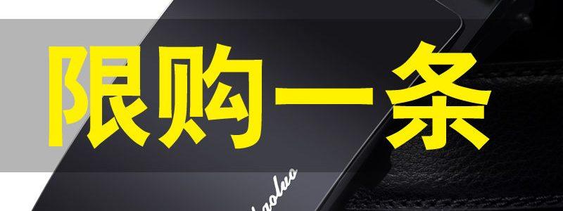 独霸保罗男士皮带自动扣腰带韩版潮休闲中年青年商务正品裤带学生