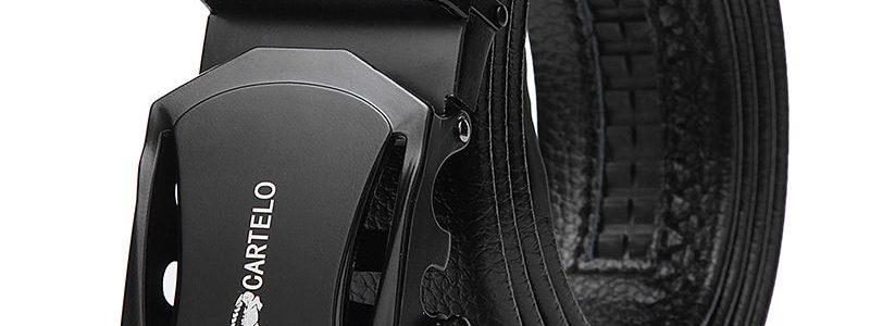 【卡帝乐鳄鱼正品】皮带男士休闲自动扣皮带 商务百搭自动扣腰带