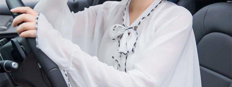 【老爷车】防晒披肩女夏季韩版百搭雪纺衫多功能骑车开车遮阳