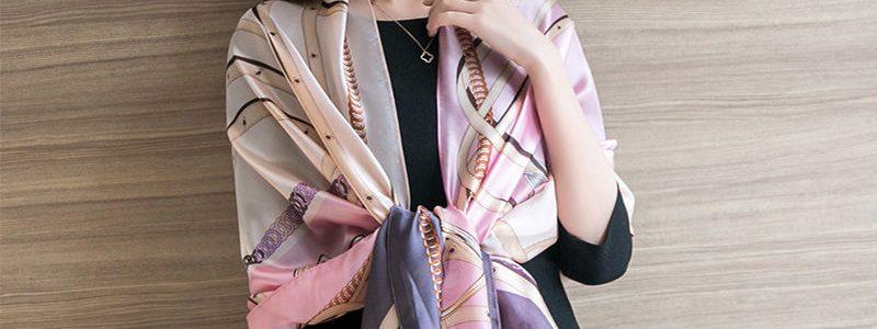 【南极人】春夏新款遮阳丝巾空调披肩韩版印花百搭时尚亲肤纱巾女
