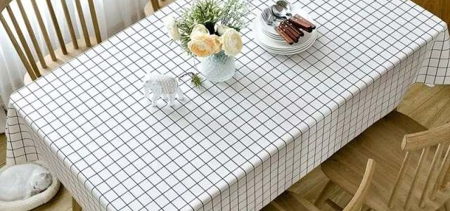 环保无气味PVC餐桌垫2019防水防油桌布免洗台布格子茶几塑料桌布