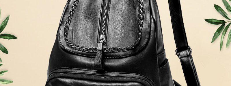 【卡帝乐鳄鱼正品】真皮质感双肩包女韩版新款百搭大容量女士背包