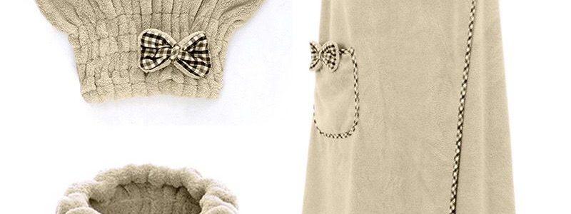【9.98元抢1000件,抢完恢复11.6元】年中畅销珊瑚绒浴巾浴帽束发带套装柔软强吸水成人女性感吊带浴裙