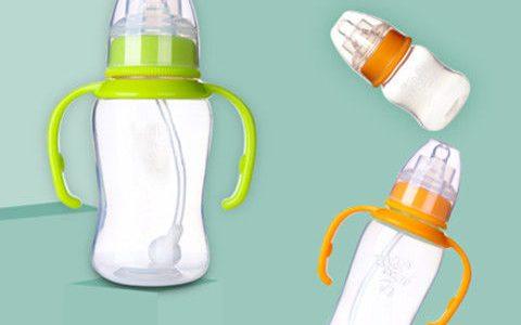【17.86元抢1000件,抢完恢复27.9元】咪呢小熊婴儿奶瓶塑料防摔宝宝新生儿标准口径PP奶瓶吸管