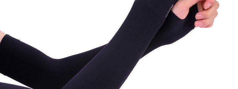 【北极绒】冰丝袖套女防晒防紫外线开车手套冰袖套男护臂手袖长款