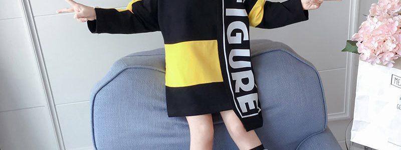 女童秋装卫衣2019新款大童韩版网红长袖T恤洋气儿童拼接长款上衣