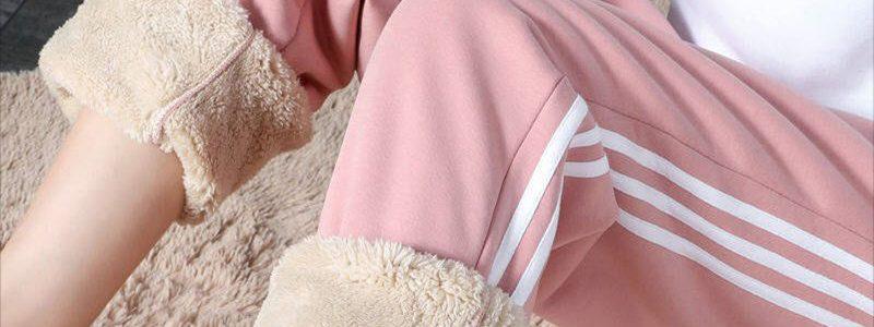 2019冬季新款加绒加厚仿羊羔绒裤子女学生韩版百搭哈伦裤运动卫裤