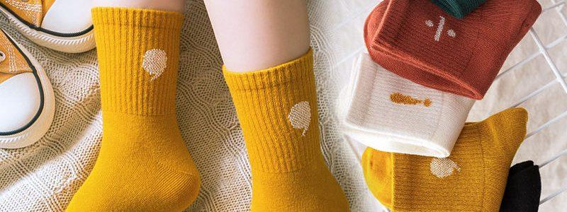 【8.8元抢2000件,抢完恢复11.9元】5双装 秋冬季儿童袜子 男女童中筒袜 小孩宝宝袜子学生童袜1-12岁