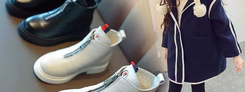 【28.8元抢5000件,抢完恢复38.9元】女童马丁靴亲子鞋秋冬季新款儿童靴子英伦风短靴加绒男童鞋皮靴