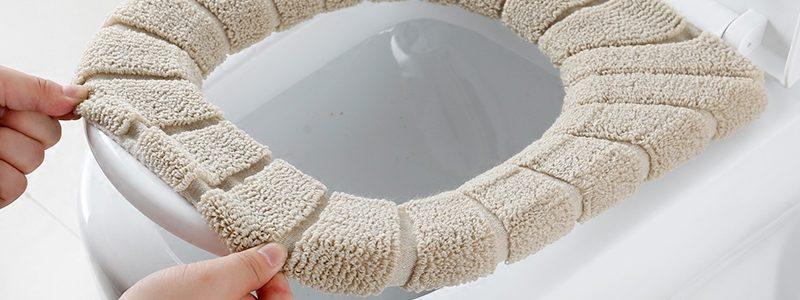 北欧风马桶坐垫家用O型马桶垫坐便器垫套粘贴式通用四季加厚防水