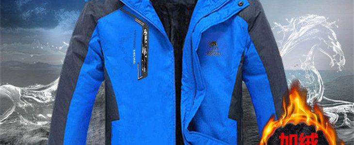 【得胜鸟】冬季加绒加厚男士运动休闲保暖棉衣棉服外套冲锋衣