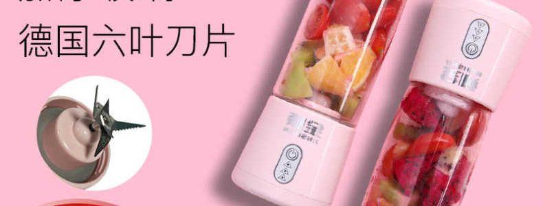 德国金顺便携式榨汁机家用水果小型充电迷你自动果汁机电动单双杯