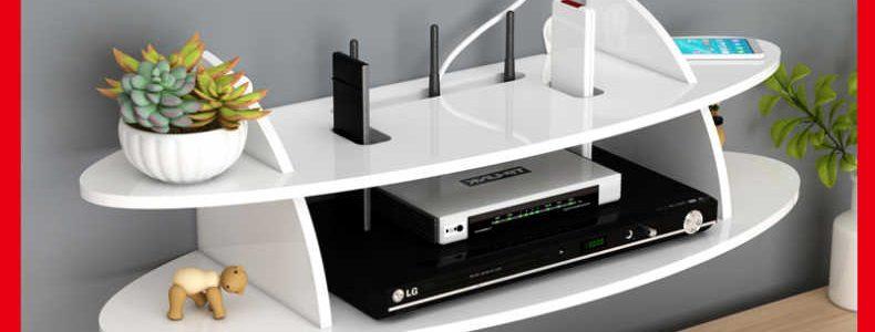 电视机顶盒置物架壁挂免打孔卧室墙上放客厅路由器收纳盒架电视架