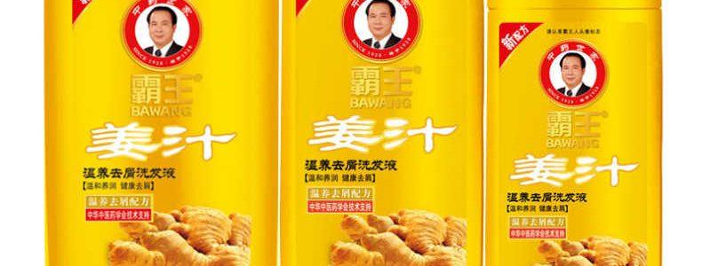 霸王姜汁温养去屑洗发水男女士生姜洗发水750ml控油柔顺正品