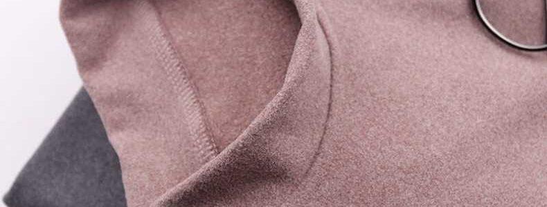 打底衫男秋冬季韩版潮流半高领双面德绒长袖t恤阳离子纯色保暖衣